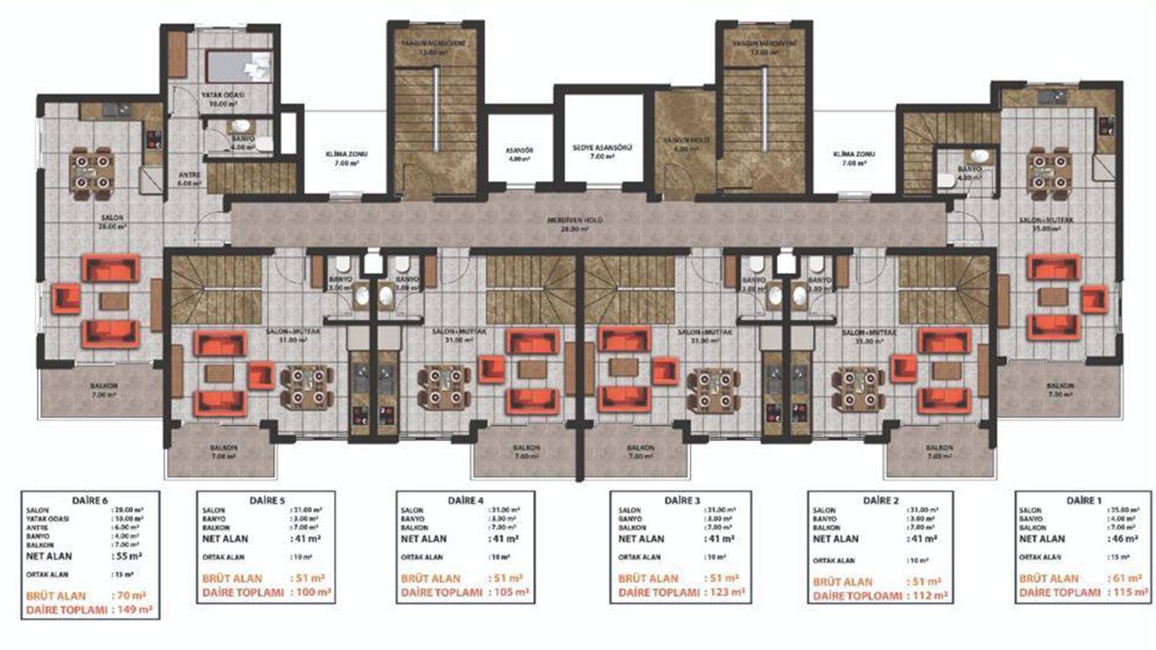 План этажа (нижний)