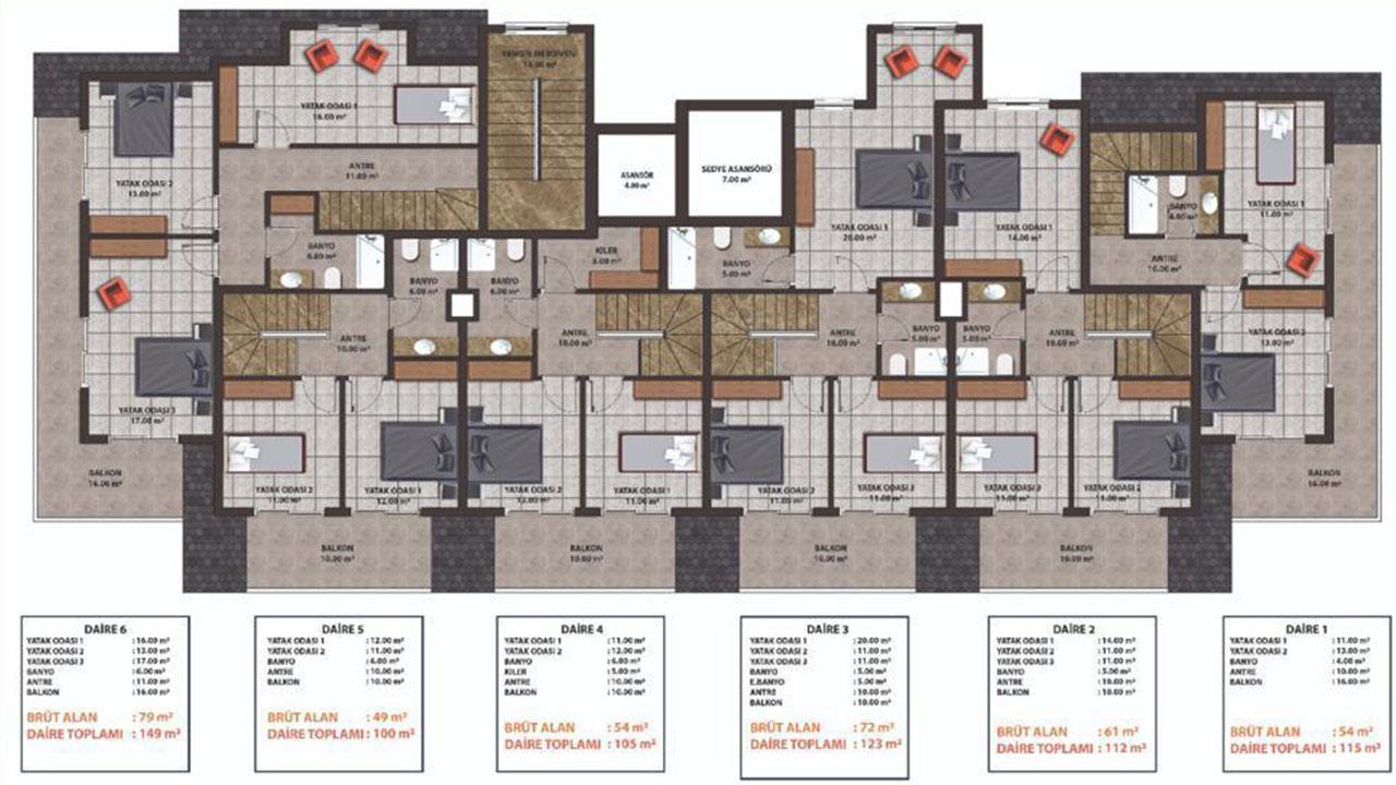 План этажа (верхний)