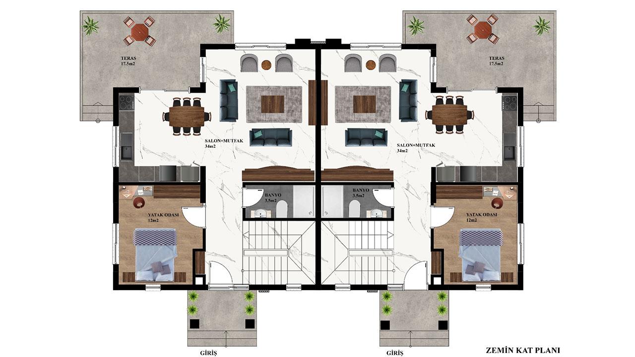 план наземного этажа