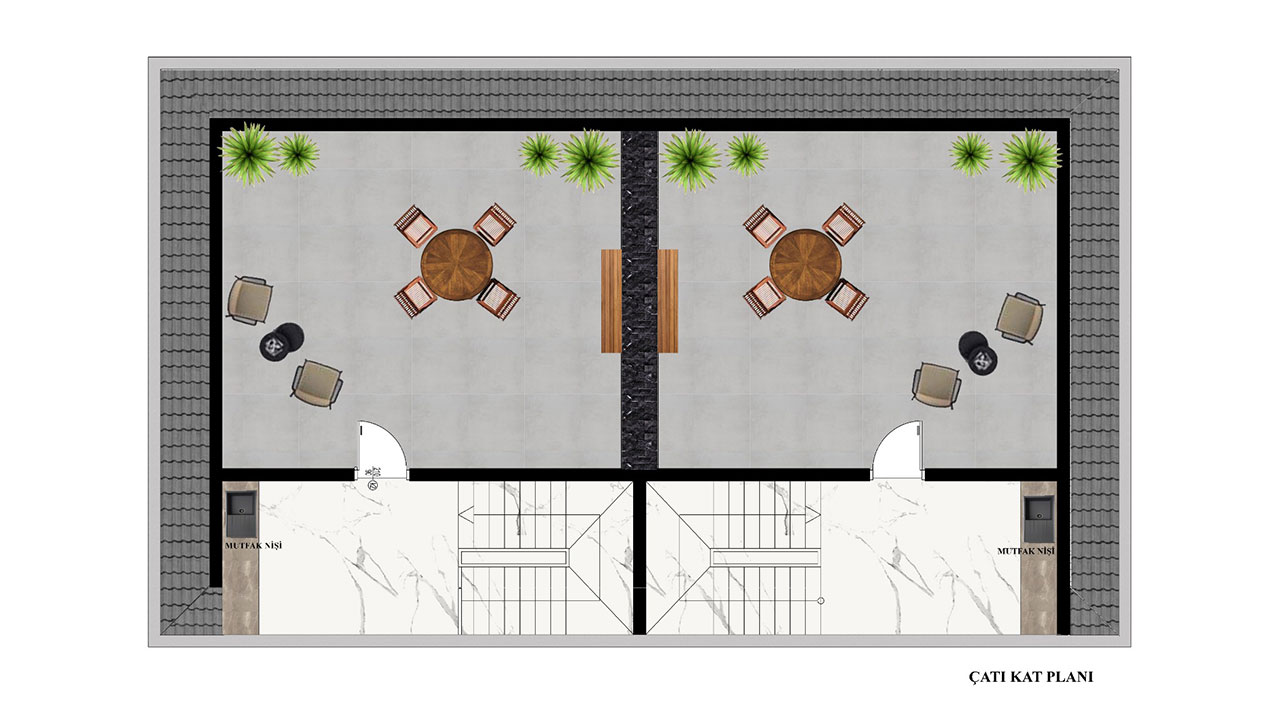план террасы на крыше