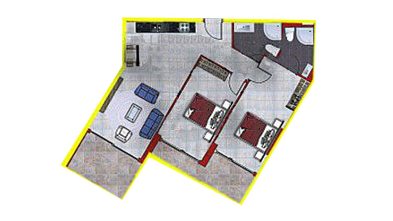 Планировка апартаментов 2+1