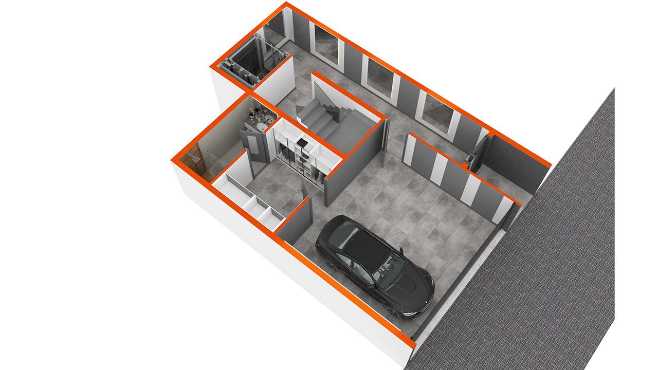 3D план нулевого этажа
