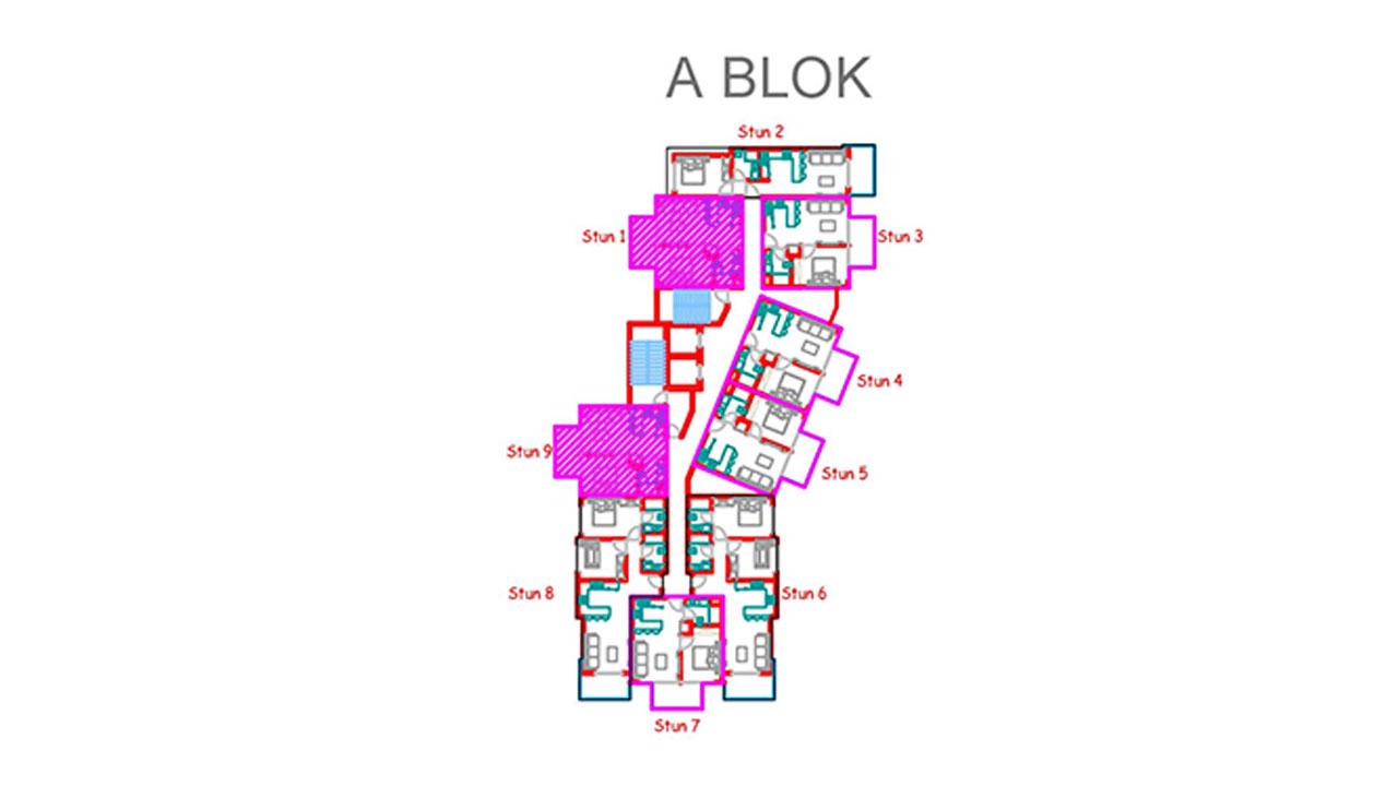 План этажа блок А