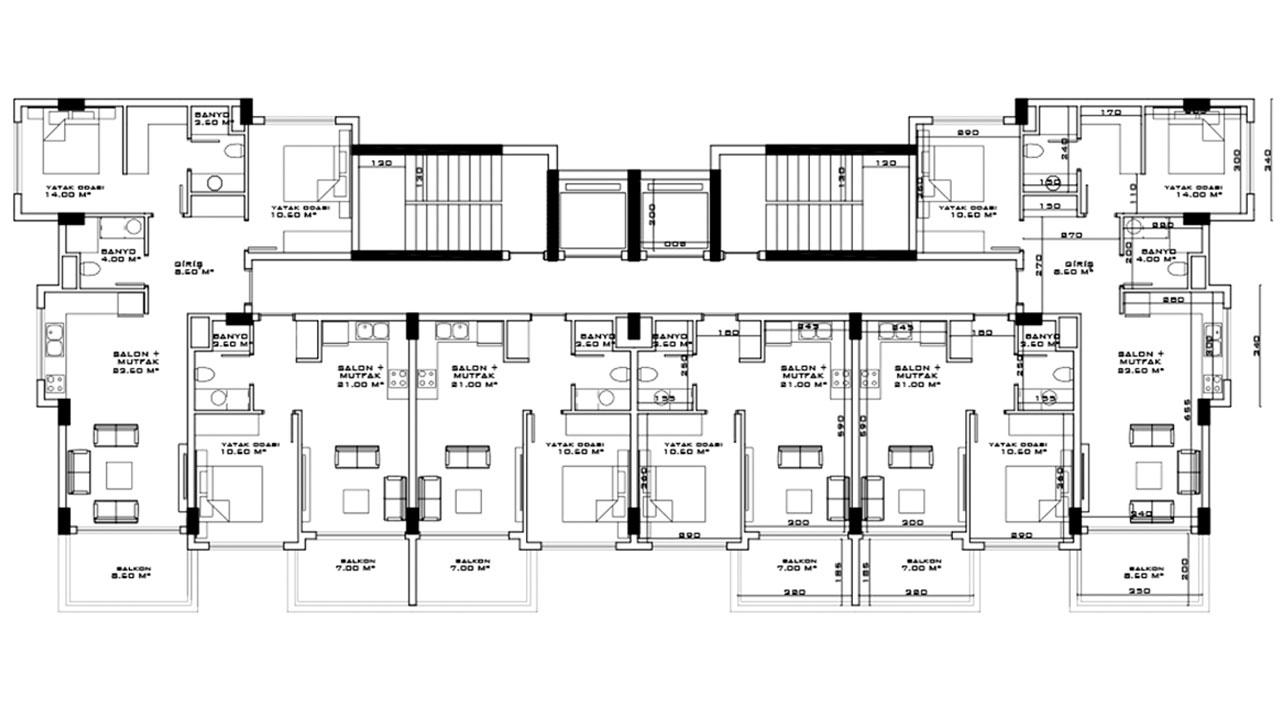 План этажа блок A