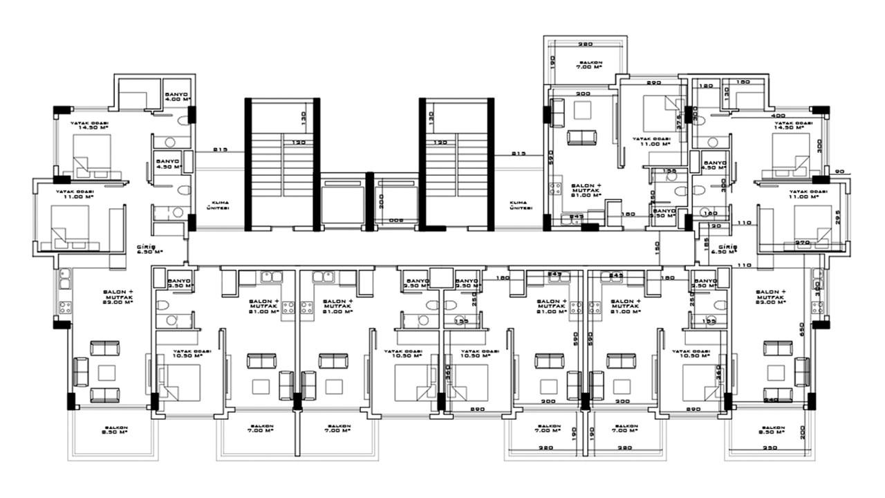 План этажа блок B