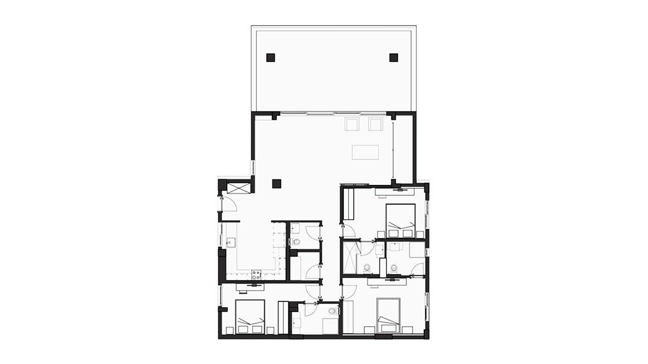 Планировка 3+1 Блок D (144.42 кв.м.)