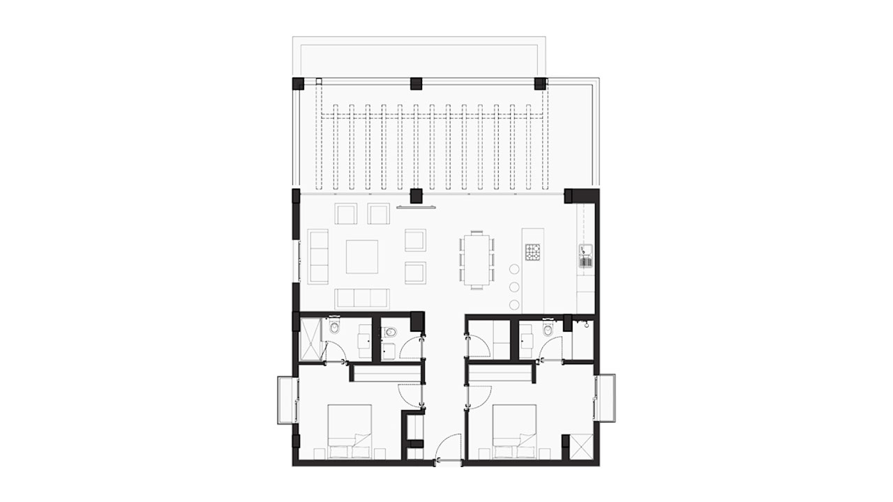 Планировка 2+1 Блок F (110,89 кв.м.)