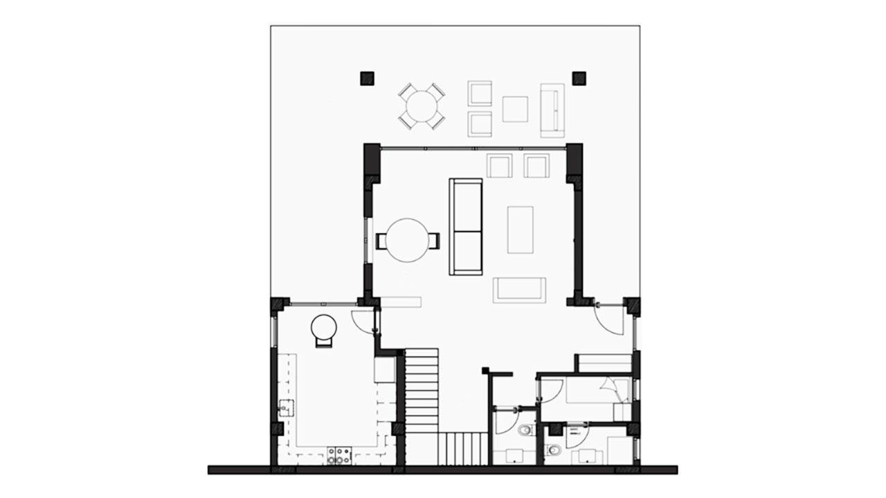 Планировка Вилла А этаж -1