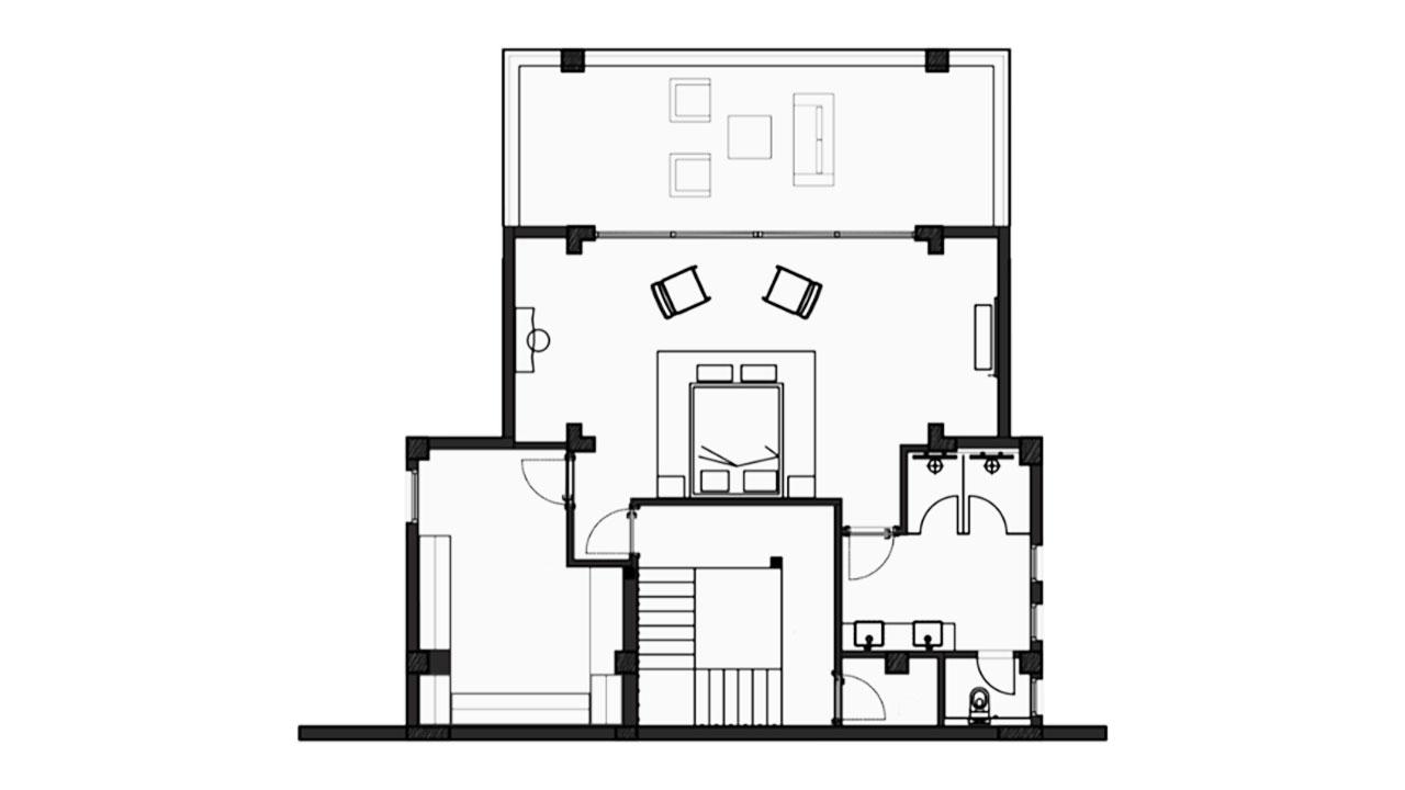 Планировка Вилла А этаж 0